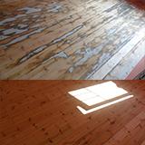 Dažytų grindų atnaujinimas